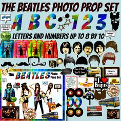BEATLES PARTY PHOTO BOOTH PROPS!!!! The clipart images in this set may be used for both Personal and Commercial Use. Credit is not required when using these images for Commercial Use but is always appreciated ♛♛♛ INCLUDED IN THIS SET ♛♛♛ Over 66 images in PNG FILES Please see 2nd picture...