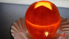 I show how to make a candle out of an orange. This is a quick and simple project that only takes a few minutes and has beautiful results. The orange candle w. Kitchen Magic, New Years Decorations, House Decorations, House Smells, Green Cleaning, Oil Lamps, Candle Making, Easy Projects, Household Items