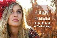 A Bird's Leap: DIY A Bohemian Flower Headband in A Matter of Minutes