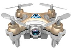 Drone Dron Quadrocopter RC Quadcopter Nano WIFI Drone with Camera 720P FPV 6AXIS GYRO Mini Drone -- See this great product.