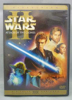 Star Wars Episode II Attack of the Clones DVD Out of Print & Rare Fullscreen OOP @starwars