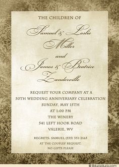 25th wedding anniversary invitations wording classic20black 50th anniversary party ideas google search stopboris