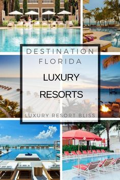 Luxury Resorts in Florida Family Resorts In Florida, Places In Florida, Florida Hotels, Vacation Resorts, Florida Vacation, All Inclusive Resorts, Hotels And Resorts, Best Hotels, Amazing Hotels