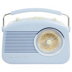 radio in periwinkle