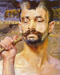 Jacek Malczewski - Faun 1 (triptych)