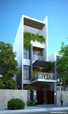 Modern narrow home //