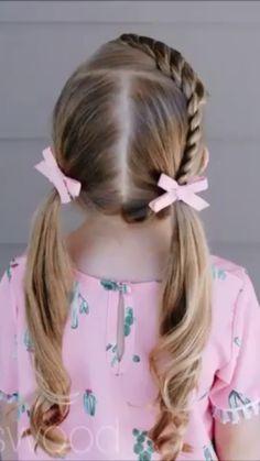Little Girl Short Hairstyles, Easy Toddler Hairstyles, Girls School Hairstyles, Cute Girls Hairstyles, Kids Hairstyle For School, Children Hairstyles Girls, Hairstyles For Toddlers, Hair Dos For Kids, Toddler Hair Dos