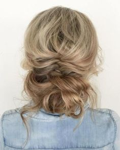 Messy Updo With A Braid And Bun