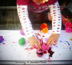 Egg crack painting!