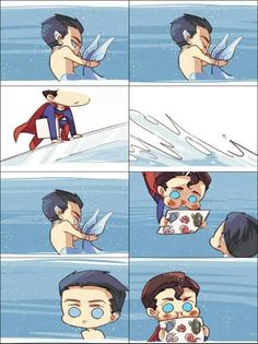 Short story of Superman saving Mermaid Bruce and bringing him back to The Fortress of Solitude part 2