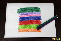 Desenho mágico- um jeito diferente de fazer arte - folha colorida com hidrocor