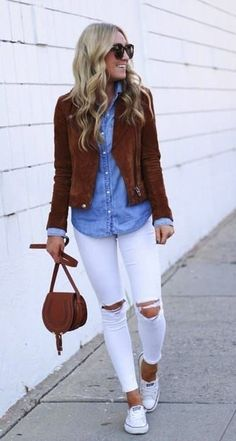 Jean Outfits, Chic Outfits, Fashion Outfits, Womens Fashion, Ladies Fashion, Fashion Ideas, Dressy Outfits, Fashion Trends, Fall Outfits 2018