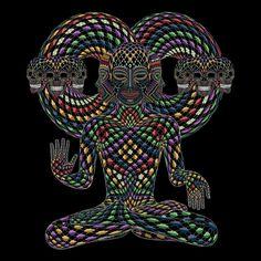 TRINFINITY tirage d'Art psychédélique Art par symbolika sur Etsy