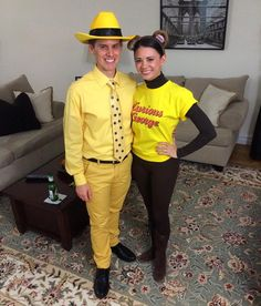 40 Hilarious Costumes For the Funniest Couples The Man With the Yellow Hat and Curious George  sc 1 st  Pinterest & DIY Curious George and the Man with the Yellow Hat Costume | DIY ...