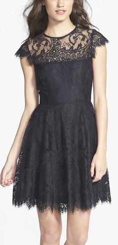 Black lace fit & flare