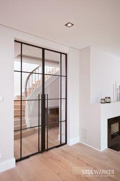 stahl loft tur by stolwarker Home Design, Interior Design, Modern Design, Loft Bathroom, Apartment Balconies, White Doors, Industrial House, Steel Doors, Windows And Doors