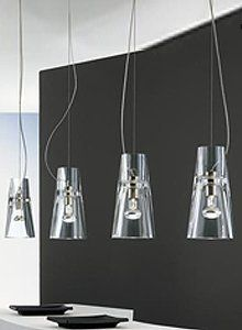 Kon 1-Light Pendant by Leucos. $532.00. Kon 1-light Pendant, small scale, multi-purpose pendent fixture available with a clear or ribbed glass diffuser.