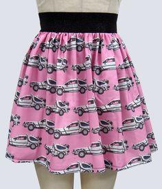 Back to the Future Delorean Full Skirt by GoChaseRabbits on Etsy.