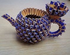 3D+Origami | origami Yi Xing Teapot 3D ~ Origami