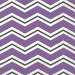 IHR Chevron Purple Grey 3-Ply Designer Print Cocktail Napkins Wholesale C545103