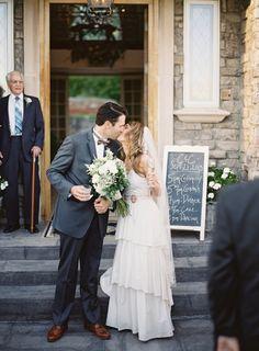 Photography: Brett Heidebrecht - brettheidebrecht.com   Read More on SMP: http://www.stylemepretty.com/2014/01/14/castle-cliff-estate-wedding-part-ii/