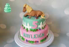 Cake with a horse. - cake by Pluympjescake