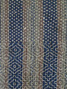 A Gorgeous and Intricately Sashiko Stitched Kotatsugake   Sri Threads