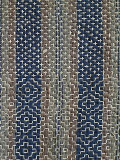 Intricately Sashiko Stitched Kotatsugake | Sri Threads