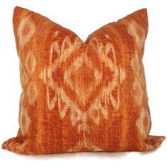 Burnt Orange India   Orange Ikat Burnt Orange Decor, Color Pallets, Ikat, India, Throw Pillows, Inspiration, Home Decor, Color Palettes, Biblical Inspiration