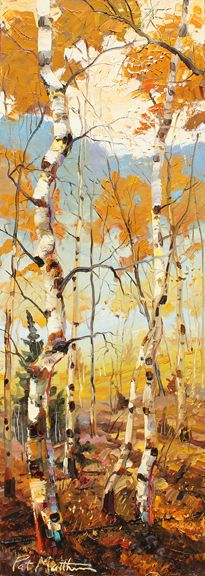 """Light Filtering Through the Trees"" by artist Patrick Matthews. 