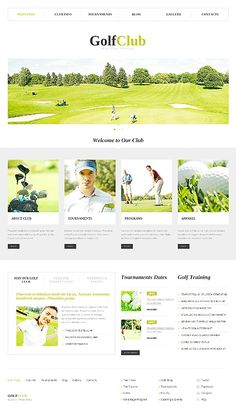 Golf Club WordPress Theme Shiny and appealing. Everybody knows that white colour is the most sporty one.