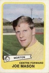 Joe Mason of Morton in Retro Football, Football Cards, Baseball Cards, Greenock Morton, 1960s, Soccer Cards, Sixties Fashion