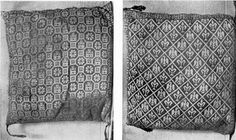 Both sides of the knitted cushion of the infante Fernando de la Cerda