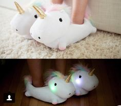 How cool are these! Light up unicorn slippers! (If I had these I would probably never leave my house or pyjamas/nighties again!)