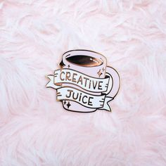 Creative Juice Enamel Pin by SugarnovaShop on Etsy