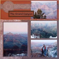 Outdoor Scrapbooking Ideas and Techniques: Machine Stitching on Scrapbook Pages - Grand Canyon Scrapbook Page Idea