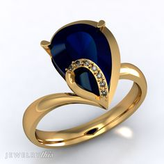 3D Jewelry Design: Fashion Ring, Accent stones style [2549-115787] » Jewelrythis
