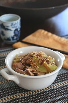 Pork, Mushroom and Cabbage Stir-Fry