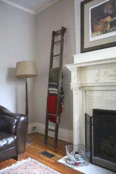 Ladder Blanket Storage   17 Apart: Ladder Blanket Storage