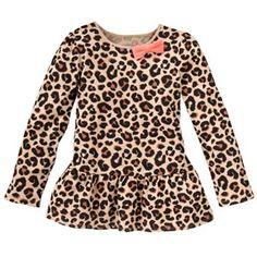 Jumping Beans Cheetah Babydoll Top - Girls 4-7