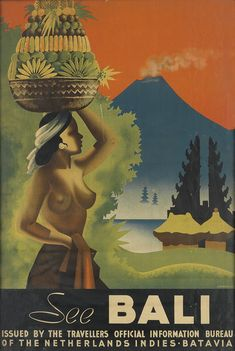 RARE & IMPORTANT TRAVEL POSTERS travel poster #vintage #decoration #homedecor bali  Contact Information http://www.kup4u.com/company/infinityflexibility http://infinityflexibility.com/wp/