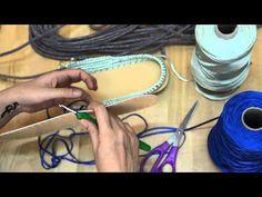 Τσάντα χειροποίητη με την τεχνική του Σχοινιού - YouTube