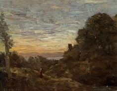 The Tower in the Trees - Camille Corot