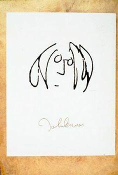 "John lennons drawings | John Lennon's self-portrait is in the exhibition ""Real Love: The ..."