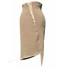 Asymetryczna spódnica z fakturową wstawką w Łatka fashion na DaWanda.com