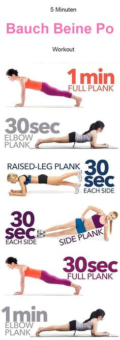 Flat Belly Plank exercices for a flat belly fat burning vitamins - With beach season nigh, we've already begun toning our muscles and glutes. Here are 17 of the best fitness workouts to get your sweat on. Fitness Workouts, Sport Fitness, Ab Workouts, Body Fitness, Fitness Diet, At Home Workouts, Workout Routines, Cardio, Belly Workouts