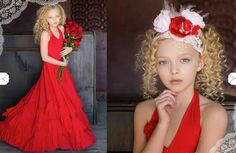 ~* Dance to the Red Ribbon Frock*~ Dollcake Vintage.