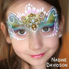 Beautiful princess face with handmade jewel cluster by Nadine Davidson from…