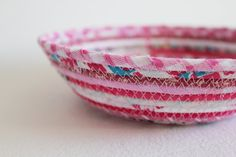 Eco-friendly coiled baskets use up fabric scraps!