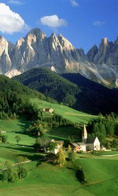 Church, Val di Funes, Bolzano, Dolomites, Italy